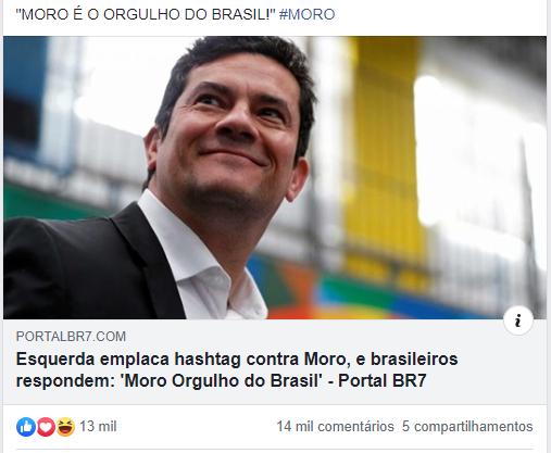 Esquerda passa Vergonha ao tentar Manchar a Imagem de Sérgio Moro